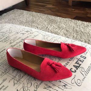 Edie Microsuede Tassel Loafer